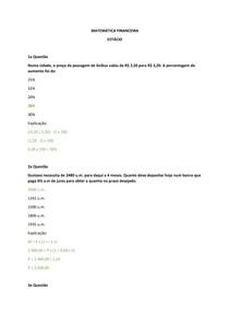 Prova de Matemática Financeira