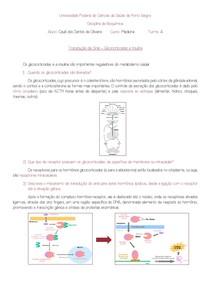Transdução de Sinal Glicocorticoides e Insulina