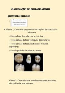 Classificações das cavidades ARTICIAL (1)