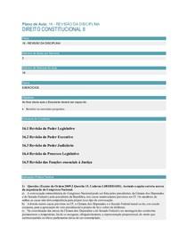 Direito Constitucional II- Aula 16