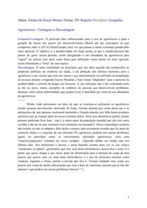 -Geografia-Agrotóxicos-Vantagens e Desvantagens-