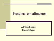 aula 4   Proteínas em alimentos