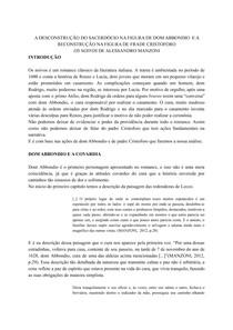 Resenha literária de Os noivos, Alessandro Manzoni