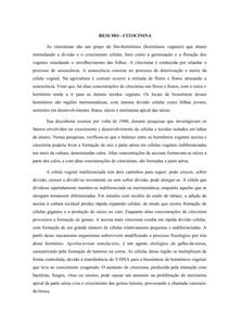 RESUMO - CITOCININA