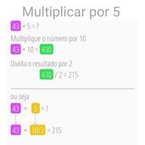 Multiplicar por 5