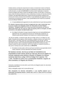 Antônio celebrou contrato de compromisso de compra e venda de bem imóvel com Ricardo