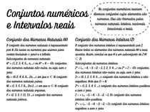conjuntos numéricos e intervalos reais - 1