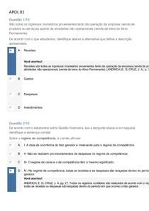 GABARITO APOLS(1,2,3,4,5) GESTÃO FINANCEIRA GTI UNINTER