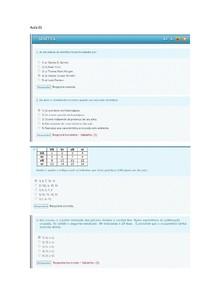 Questões de aulas  01 a 05 de gentica