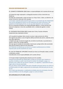 SIMULADO RESPONSABILIDADE CIVIL
