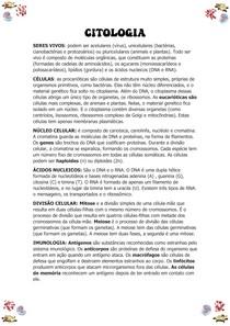 CITOLOGIA - RESUMO