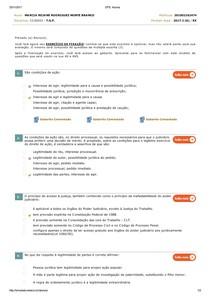AÇÃO E AS CONDIÇÕES PARA O SEU REGULAR EXERCÍCIO   avaliando 6