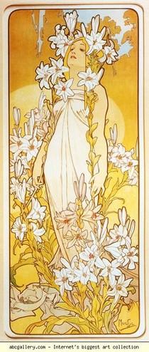 Alphonse Mucha - Lily. Da Série Flores