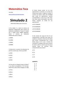 Matemática para Concursos SIMULADO 2 #EXCLUSIVOPD
