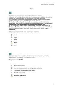AUDITORIA DE SISTEMAS Aulas  1 e 2