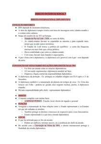 DIREITO INTERNACIONAL 7 - DIREITO INTERNACIONAL DIPLOMÁTICO