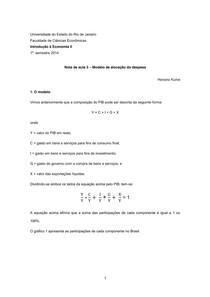 Nota de aula 3 ÔÇô Modelo de aloca+º+úo da despesa