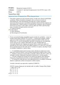 PROVA MERCADO E CAPITAIS II