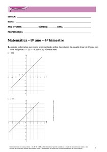 Matemática 8º ano 4º Bim