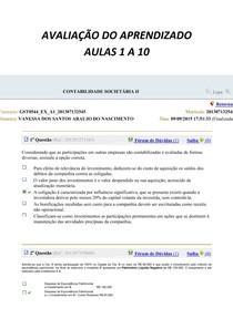 CONTABILIDADE SOCIETÁRIA II 1 A 10 MAIS SIMULADO