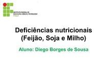 Deficiências nutricionais (Feijão, Soja e Milho)