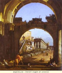 Bernardo Bellotto - Capriccio do Capitólio