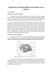 Componentes da sistema límbico relacionados com as emoções