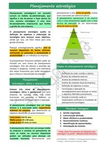 Resumo Enxuto - Planejamento estratégico