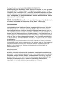 Avaliação final(discursiva)-FUNDAMENTOS DE AGROPECUÁRIA