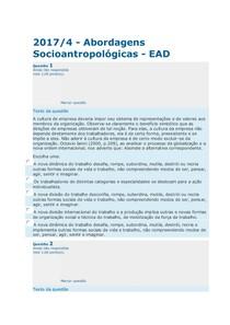 avc1 ABORDAGENS SOCIOANTROPOLOGICAS