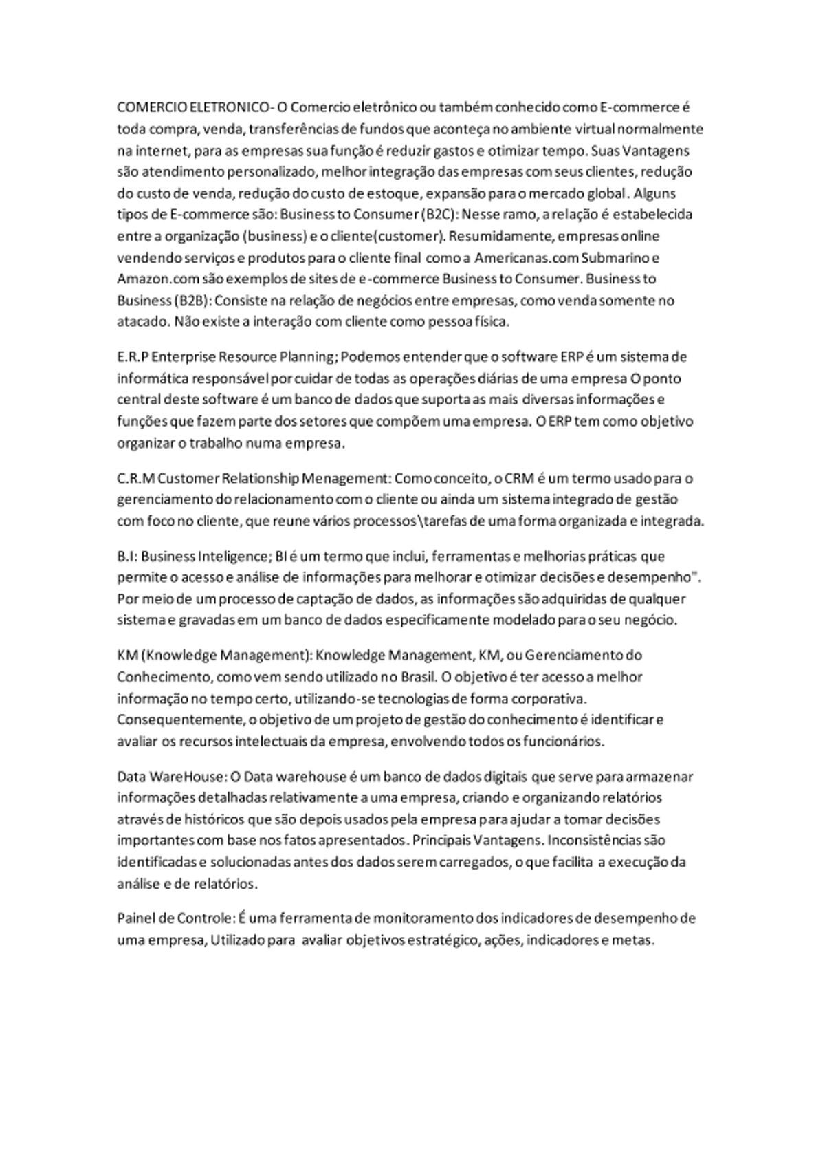 Pre-visualização do material COMERCIO ELETRONICO - página 1