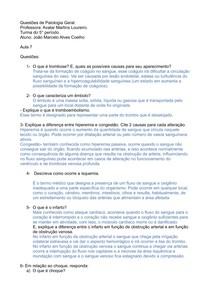 Estudo dirigido (distúrbios circulatórios)