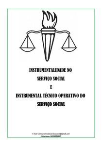 INSTRUMENTALIDADE NO SERVIÇO SOCIAL E INSTRUMENTAL TÉCNICO OPERATIVO APOSTILA