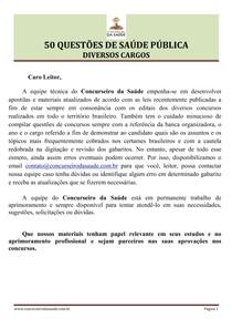 50 questoes de concurso saúde pública