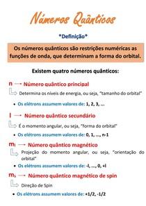 Resumo - números quânticos