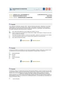 ADMINISTRAÇÃO DE MARKETING EXERCÍCIOS RESOLVIDOS DE 1 AO 5
