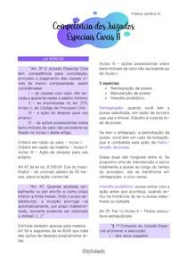 Prática Jurídica IV - Competência dos Juizados Especiais Cíveis II