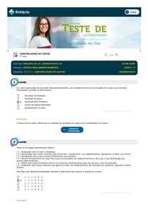 Teste de Conhecimento 07 - Contabilidade de Custos