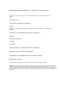 2-QUESTIONÁRIO DE MÁQUINAS ELÉTRICAS 2013