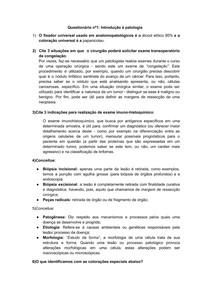 Introdução à Patologia   Patologia Geral   Medicina   UFCSPA