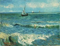 Vincent Willem van Gogh-Seascape-at-Saintes-Maries