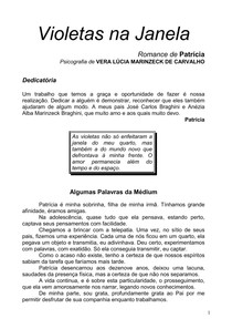 Violetas Na Janela Psicografia Vera Lucia Marinzeck De Carval 26