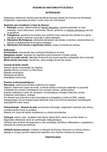 ANATO PATOLOGICA GERAL - RESUMO