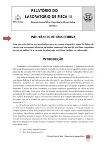 2c2932bce14 Relatório indutância de uma bobina - Física III