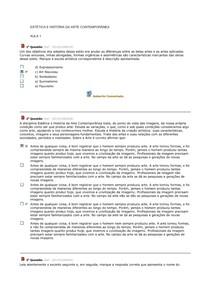 ESTÉTICA E HISTÓRIA DA ARTE CONTEMPORÂNEA - COMPLETÃO 2014.2