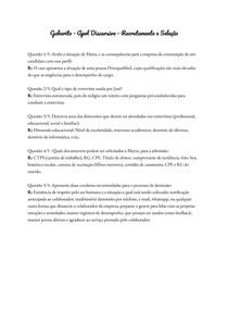 Gabarito - Apol Discursiva - Recrutamento e Seleção