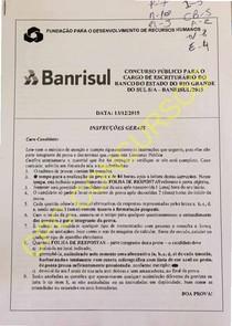 Prova Banrisul2015