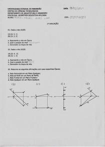 Geometria Descritiva - 2ª Avaliação
