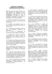 1   DIREITOS E DEVERES INDIVIDUAIS E COLETIVOS