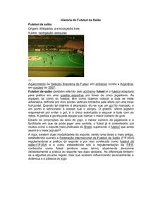 História do Futebol de Salão - Fundamentos do Futebol e Futsal 600ad9d824ddf